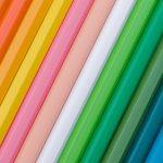 oblique close view of color pencils