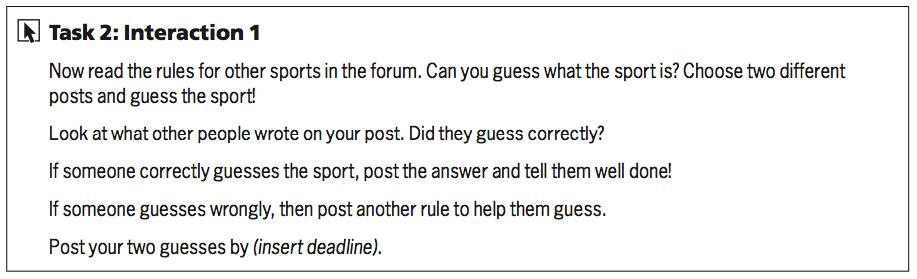 Task 2: Interaction 1