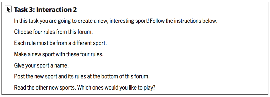 Task 3: Interaction 2