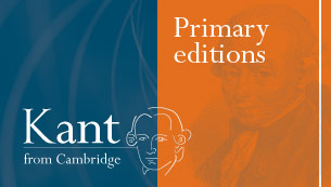 Immanuel Kant - Primary Editions