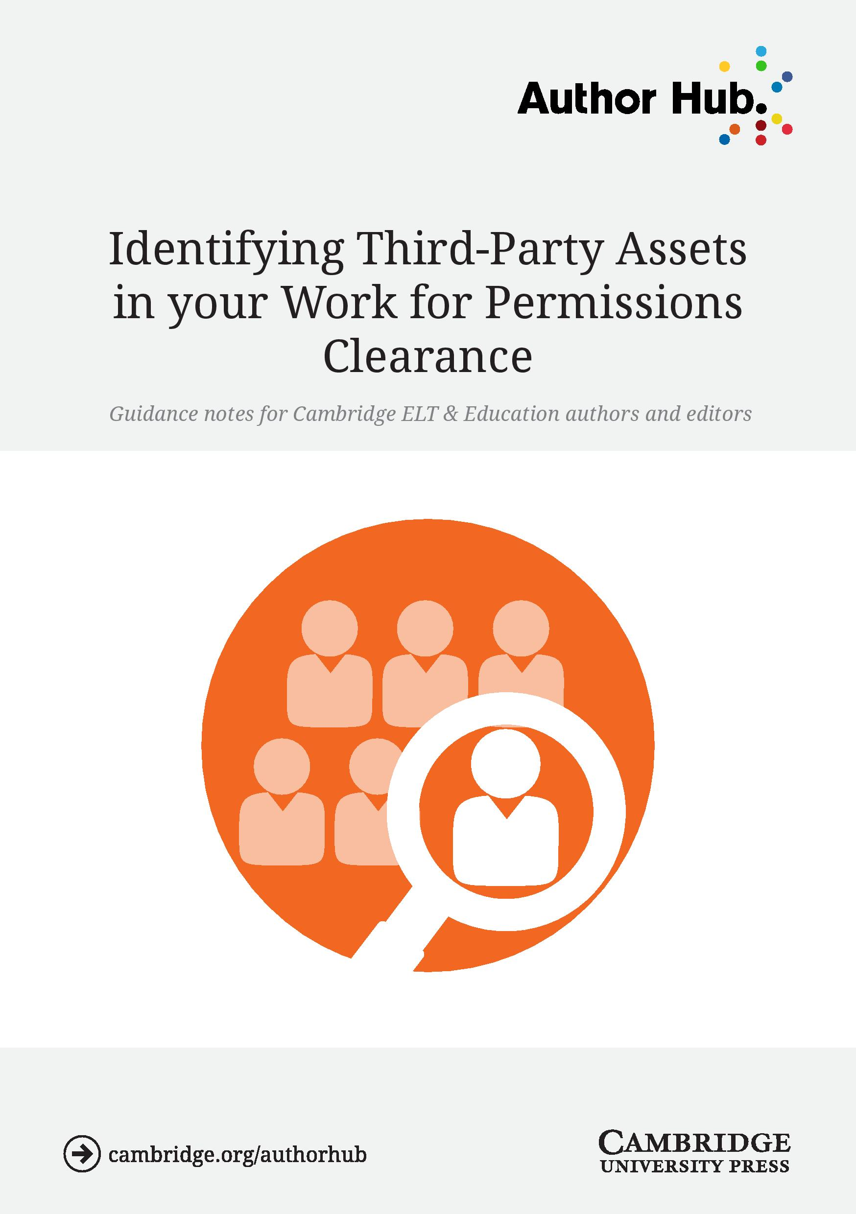ELT and Education - Identifying Third-Party Assets in your work for permissions clearance