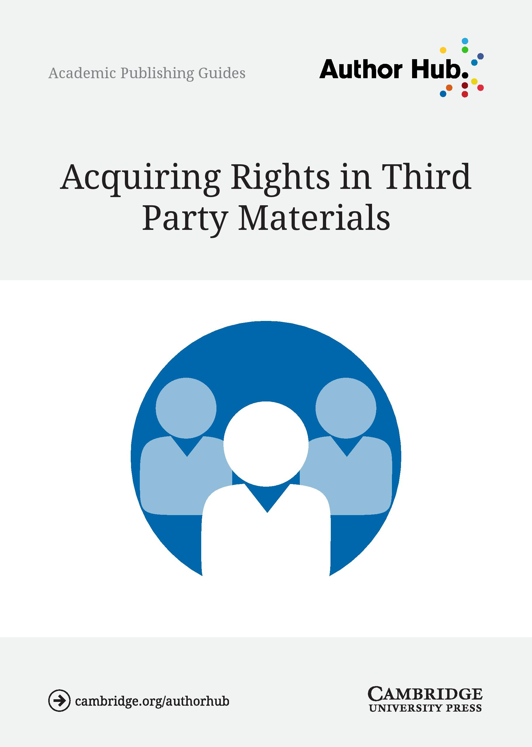 Academic - Acquiring rights in third party materials