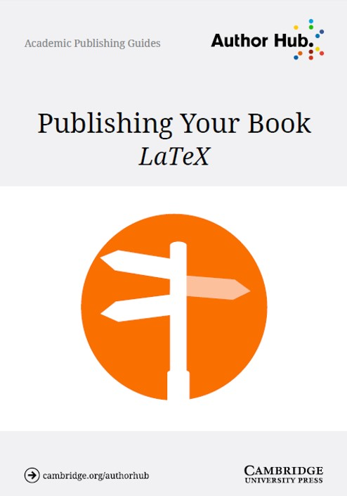 Publishing your book - LaTex
