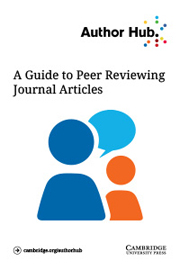 A guide to peer reviewing journal articles