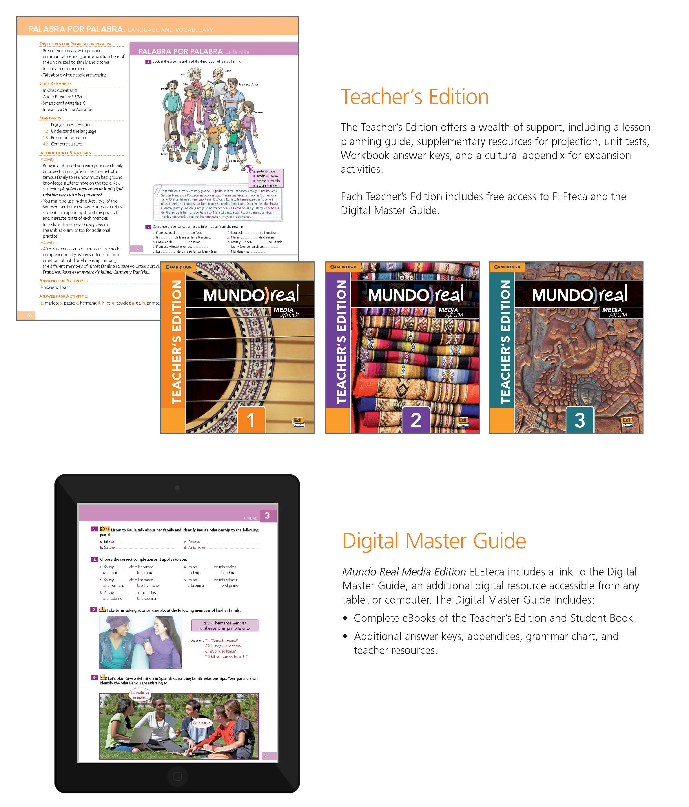 Cambridge spanish mundo real media edition in addition to eleteca the central learning management system of mundo real media edition the program features a number of robust teacher support tools fandeluxe Images