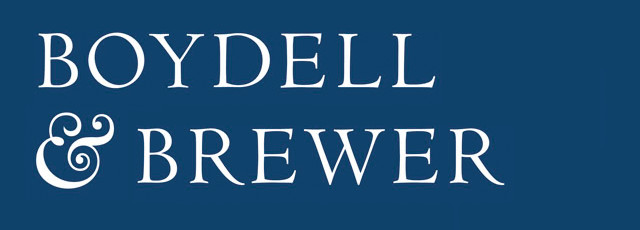 Boydell & Brewer logo on blue background