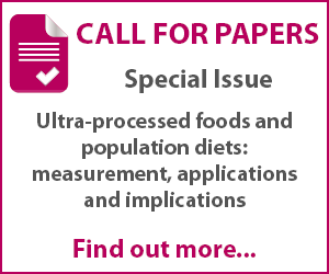 Call For Papers: Ultra processed Foods