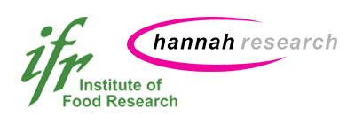 Institute for Food Research logo and Hannah Research Foundation logo