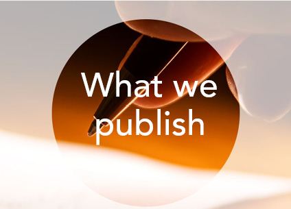 What we publish
