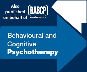 A button linking the BABCP journals on CBT homepage