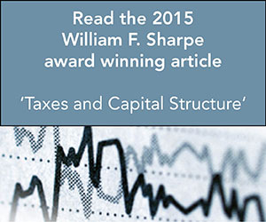 Read the 2015 William F. Sharpe Award winning article