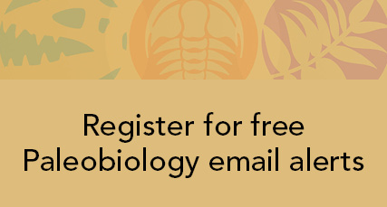 Register for Paleobiology email alerts