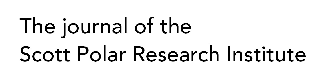 The journal of the Scott Polar Research Institute