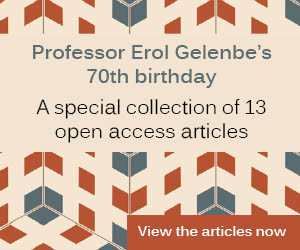 Banner promoting Prof Gelenbe article collection