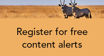 Register for content alerts for Oryx the journal