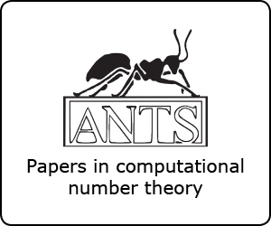 A special collection of papers for Algorithmic Number Theory Symposium XII