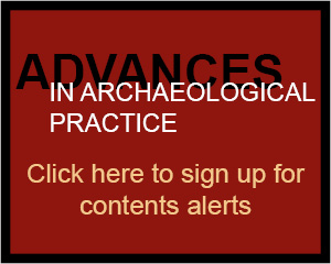 Advances in Archaeological Practice AAP content alerts banner