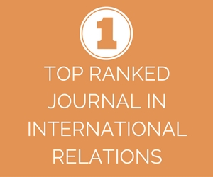 IO Top Ranked Journal in International Relations