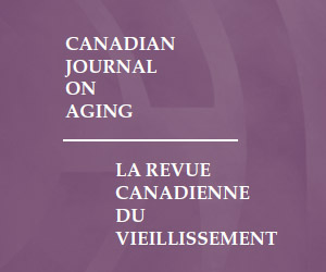 Canadian Journal on Aging Core banner