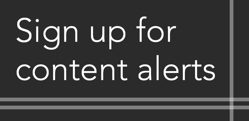 Sign up for content alerts for Modern American History