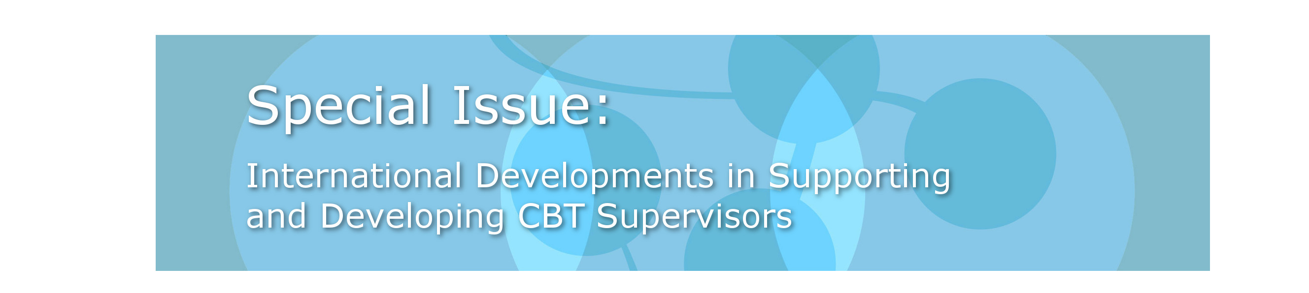 CBT Special Issue Banner