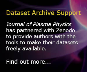 Journal of Plasma Physics and Zenodo partnership