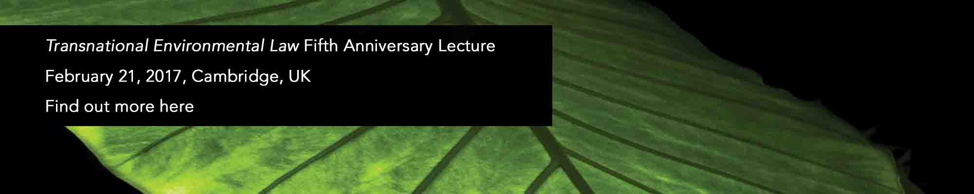 TEL Fifth Anniversary LEcture banner