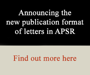 APSR letters announcement banner