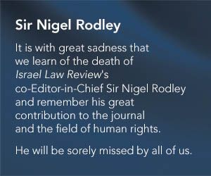 ISR Core banner - Sir Nigel Rodley