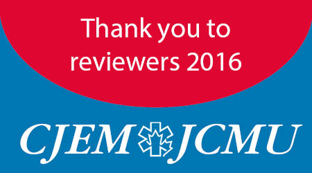 CJEM reviewers thanks
