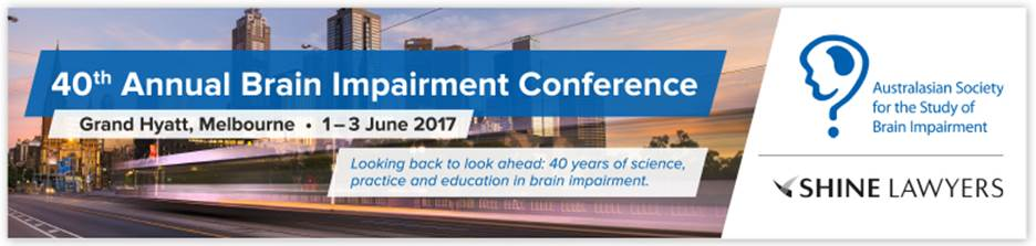 40th Annual Brain Impairment Conference of ASSBI