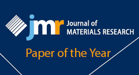 Arvind Kalidindi and Christopher A. Schuh awarded 2017 JMR Paper of the Year