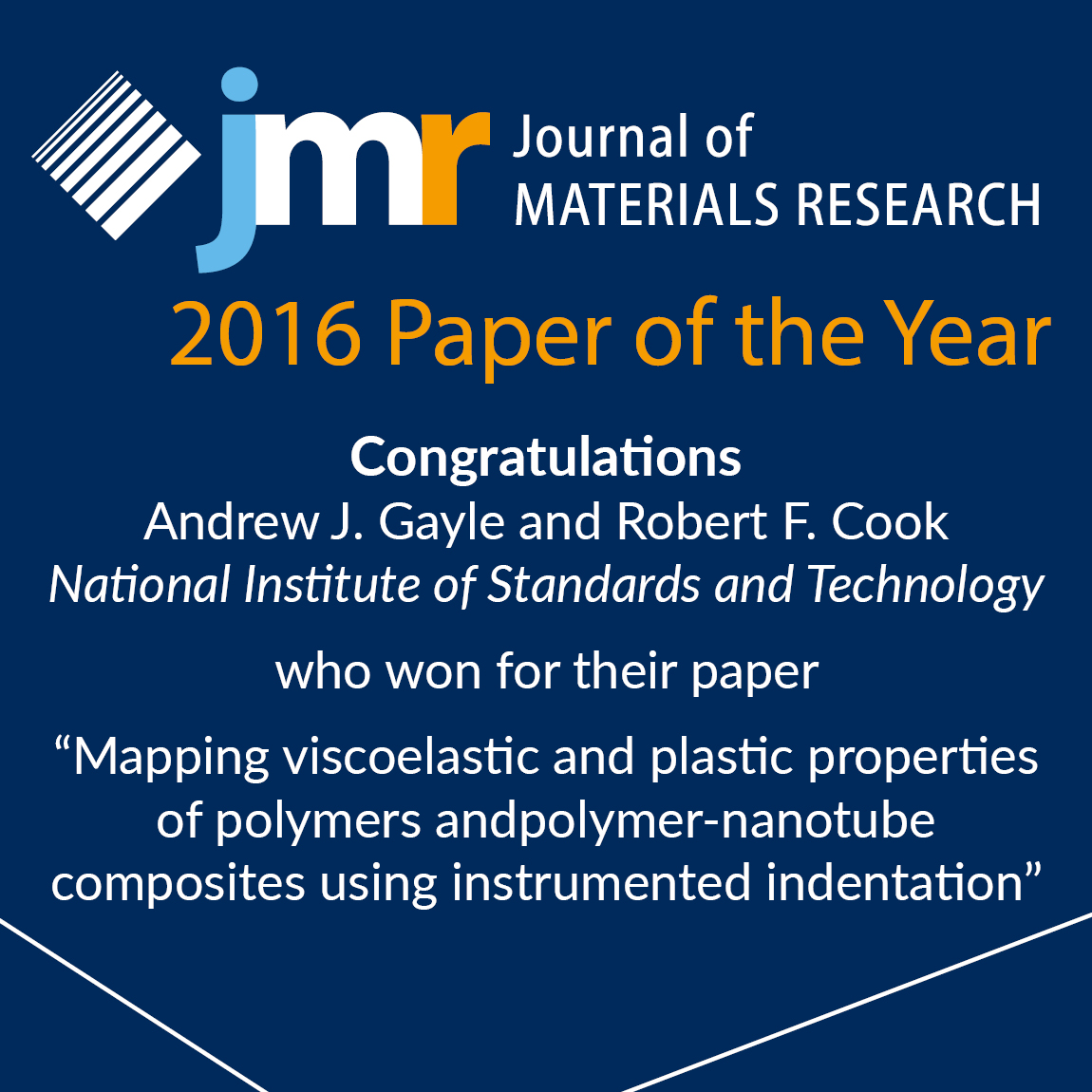 Paper of the year - announcement