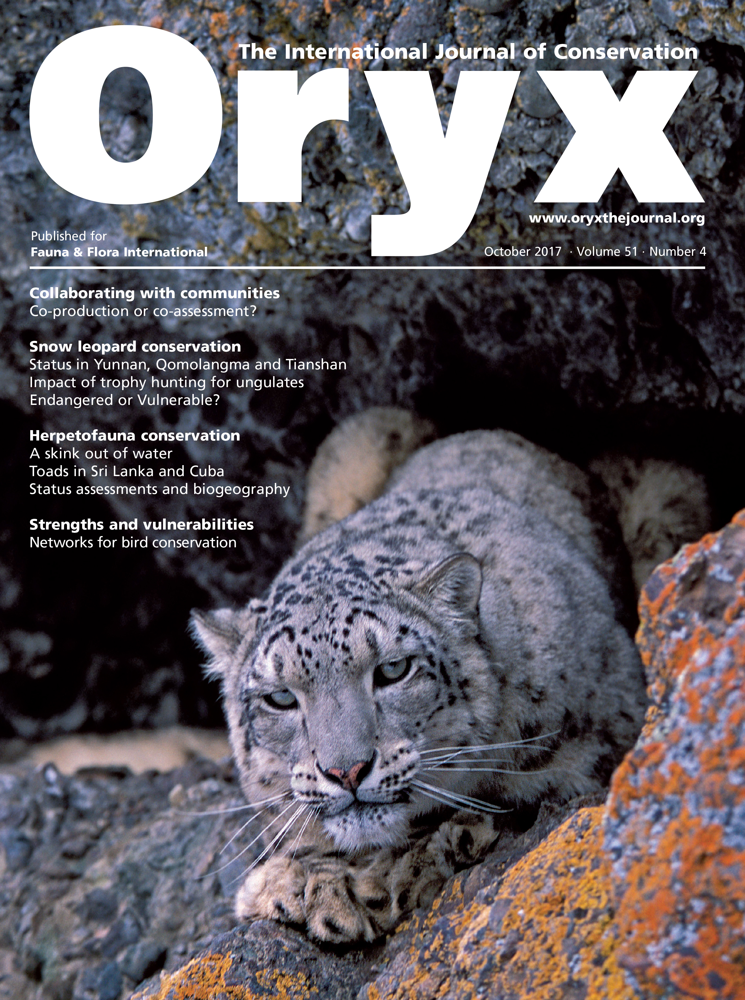 Oryx Issue 51.4