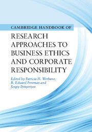 Research Approaches to Business Ethics and Corporate Responsibility