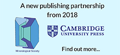 Mineralogical Society of Great Britain and Ireland and Cambridge University Press announce new publishing partnership