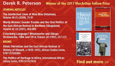 Derek Peterson - MacAuthor Fellow Prize