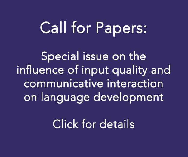 Journal of Child Language Call for Papers 2018