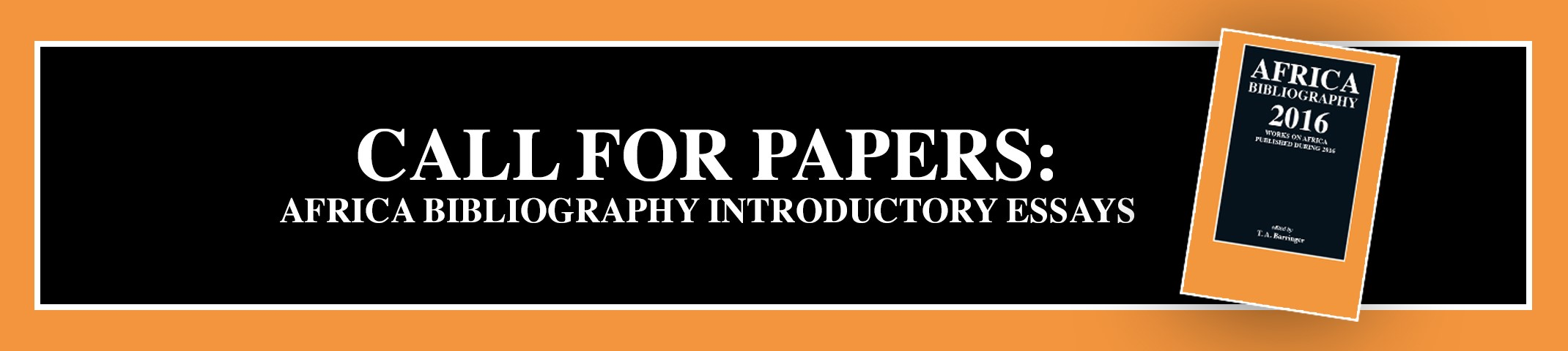 Call for Papers: Africa Bibliography Introductory Essays