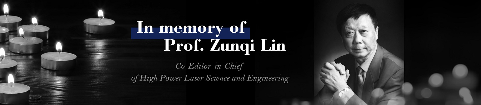 In Memory of Prof. Lin correct2