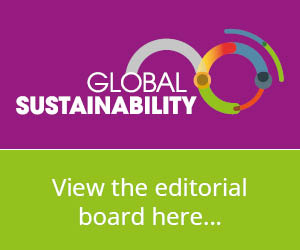 View the Global Sustainability Editorial board