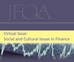 JFQA Virtual Issue 2: Social and Cultural Issues in Finance
