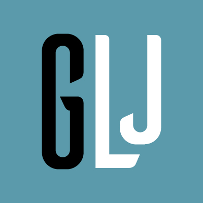 GLJ square logo button
