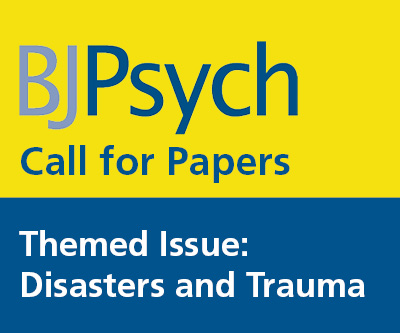 BJPsych Call for Papers Disasters and Trauma Button