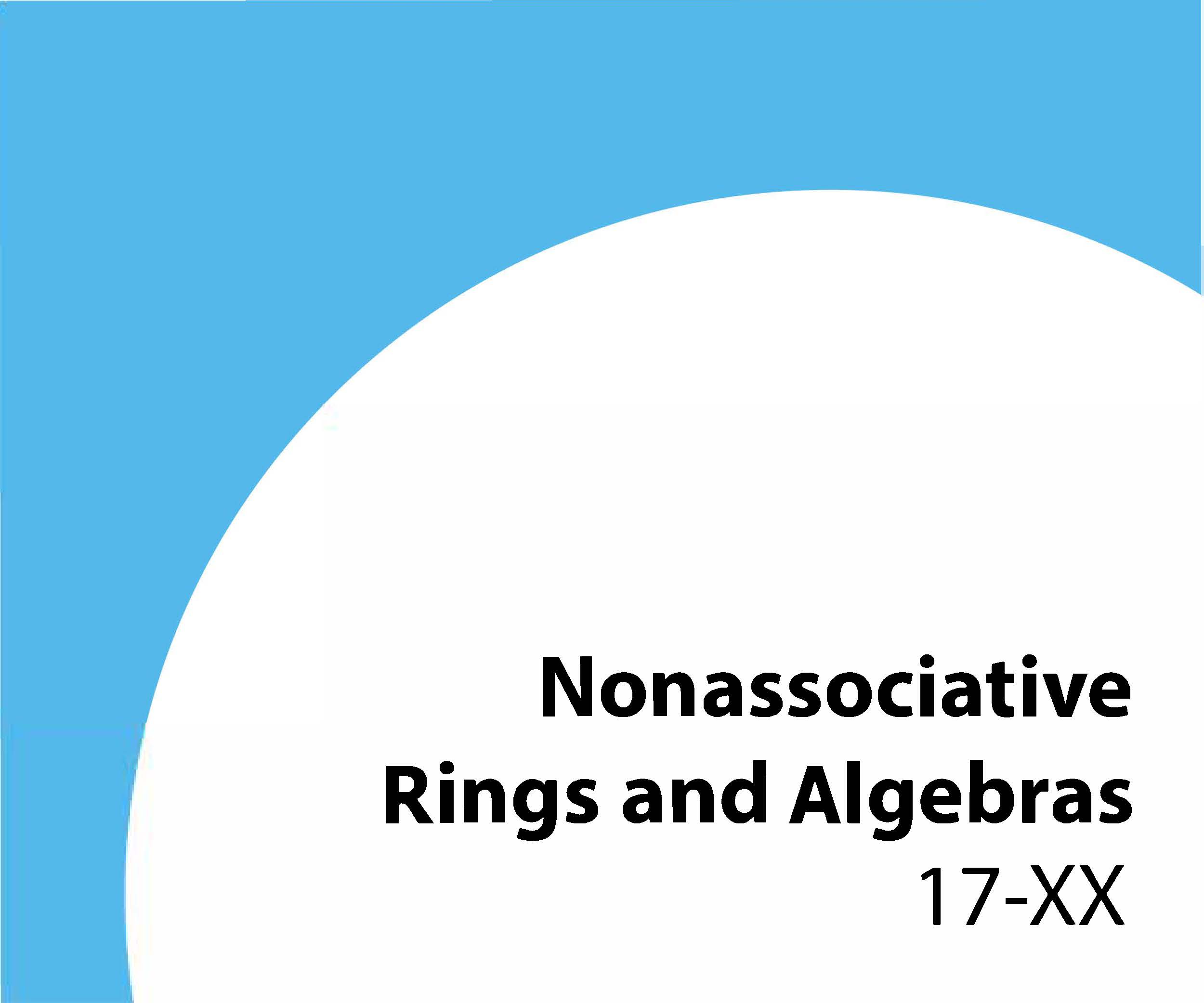 17-xx Nonassociative rings and algebras