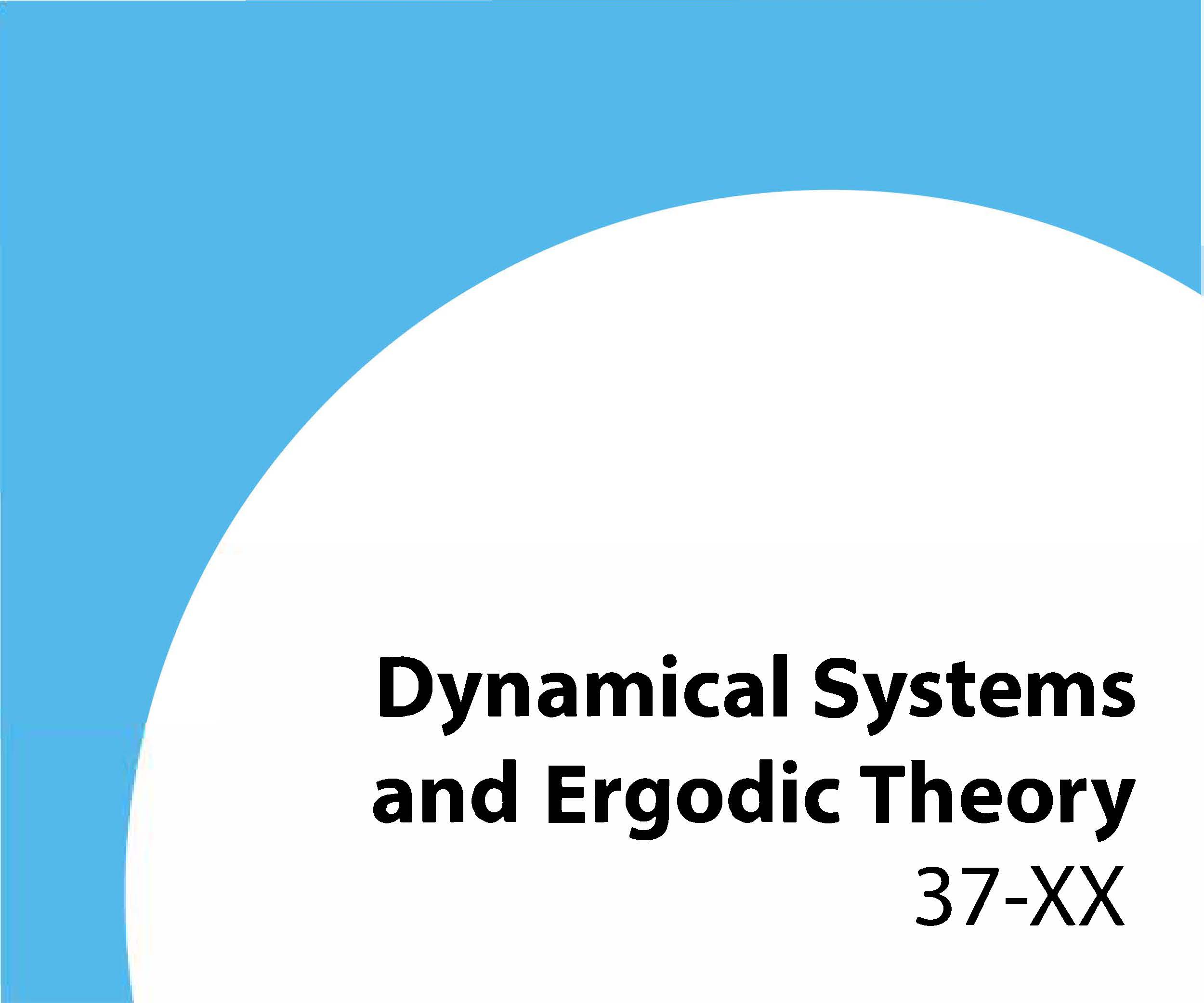 37-xx Dynamical systems and ergodic theory