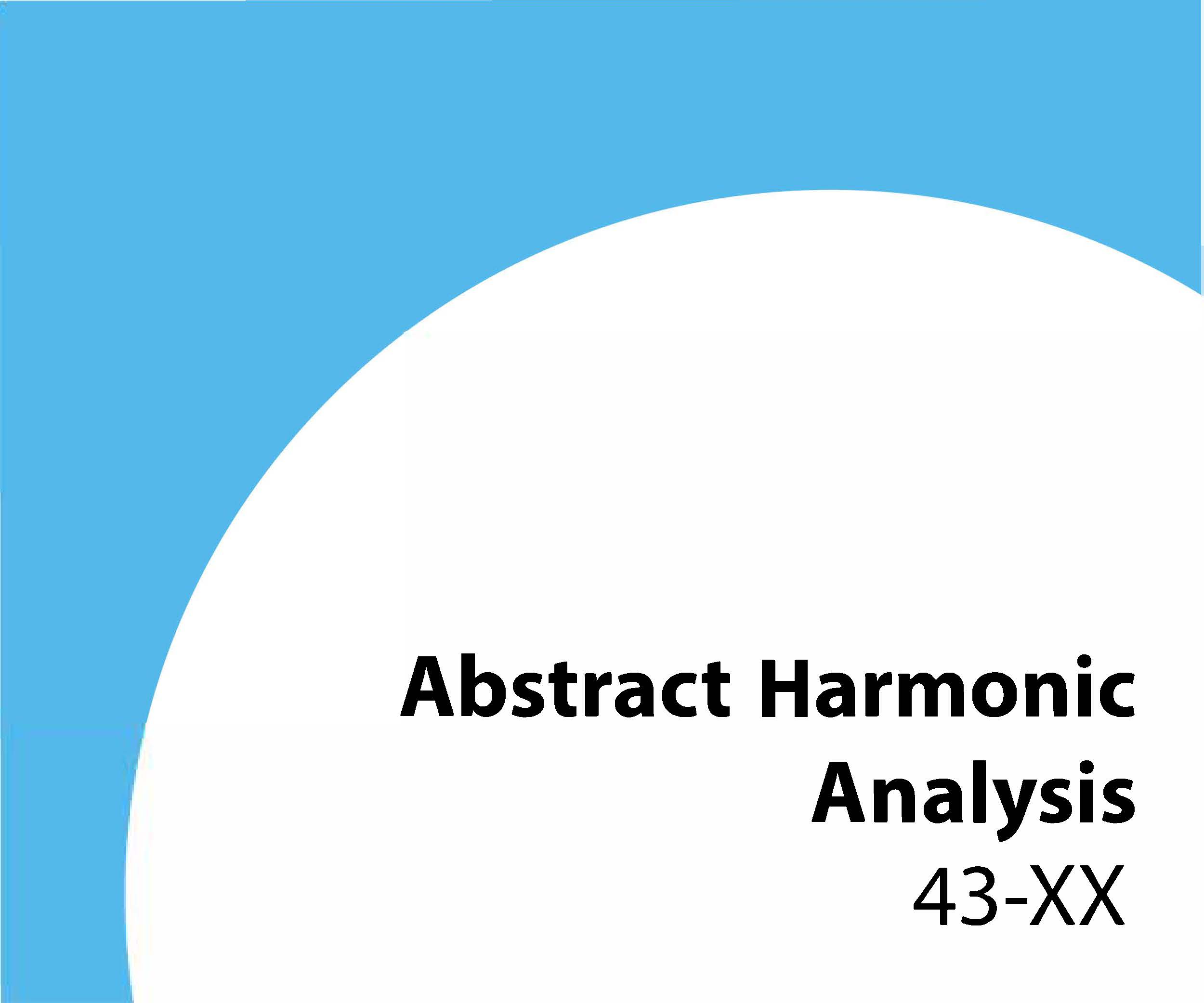 43-xx Abstract harmonic analysis