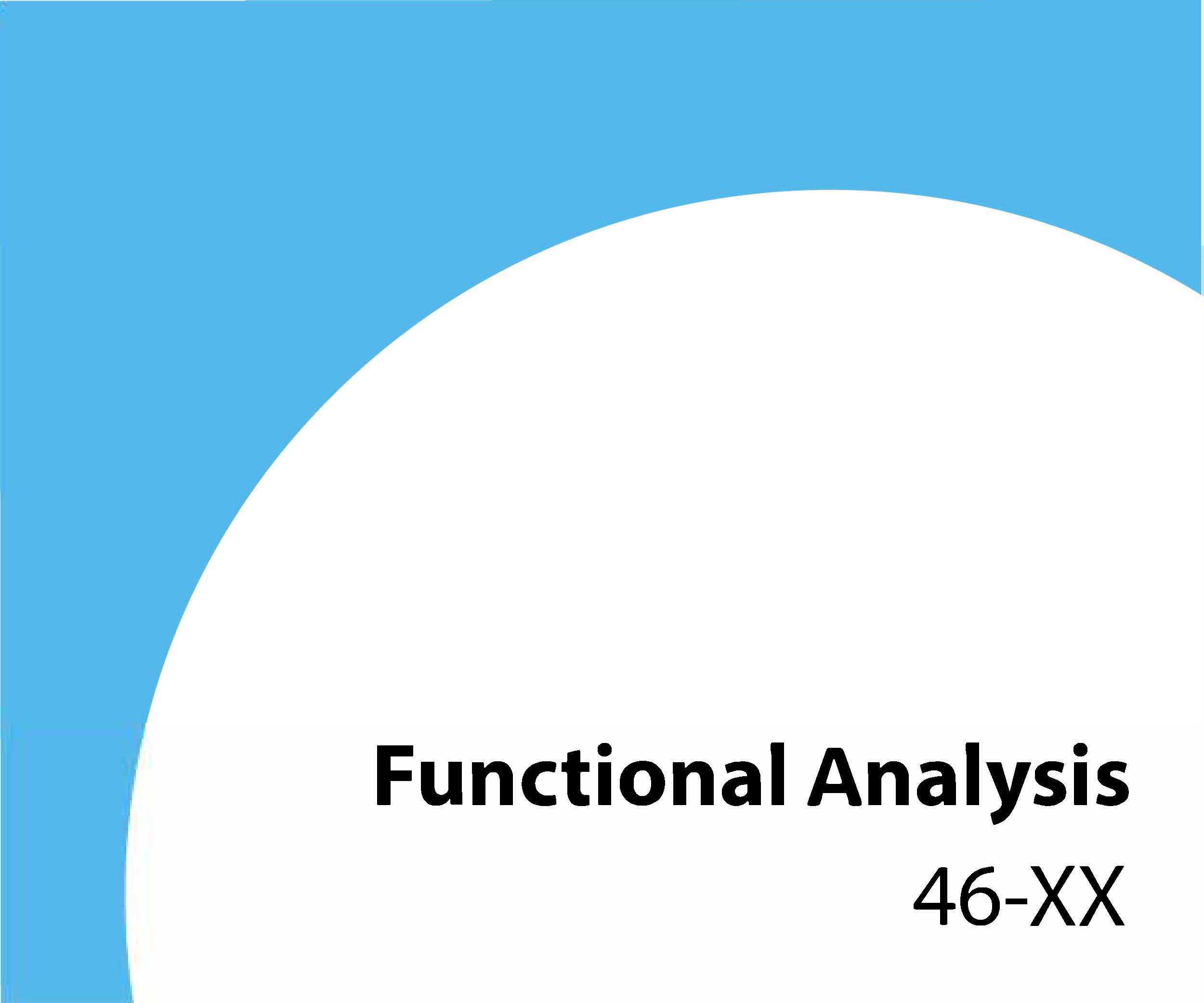 46-xx Functional analysis