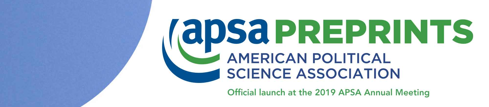 APSA Preprints Hero banner