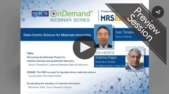 MRS Data-Centric Science for Materials Innovation Image